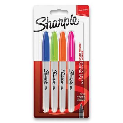 Permanentný popisovač Sharpie Fine súprava 4 ks – doplnkové farby