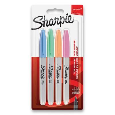 Permanentný popisovač Sharpie Fine súprava 4 ks - pastelové farby