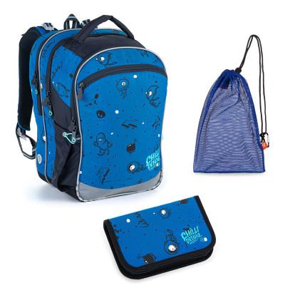 Set pre školáka Topgal COCO 21017 B SET MEDIUM - školská taška, vrecko na prezuvky, školský peračník