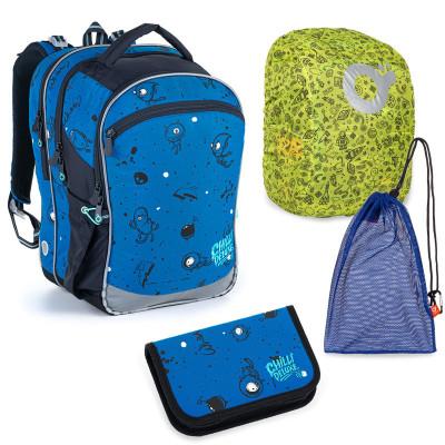 Sada pre školáka Topgal COCO 21017 B SET LARGE - školská taška, vrecko na prezuvky, pláštenka na batoh, školský peračník