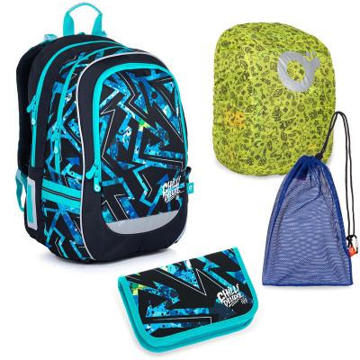 Sada pre školáka Topgal CODA 21020 B SET LARGE - školská taška, vrecko na prezuvky, pláštenka na batoh, školský peračník