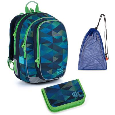 Set pre školáka MIRA 21019 B SET MEDIUM - školská taška, vrecko na prezuvky, školský peračník