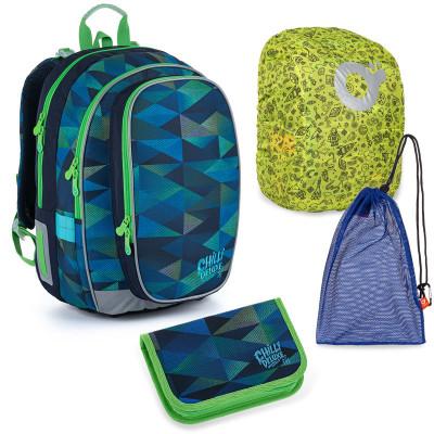 Set pre školáka Topgal MIRA 21019 B SET LARGE školská taška, vrecko na prezuvky, pláštenka na batoh, školský peračník
