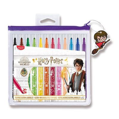Detské fixky Maped Color'Peps Harry Potter - 12 farieb, puzdro na zips