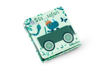 Lilliputiens - kouzelná knížka do vany s přísavkami - Safari