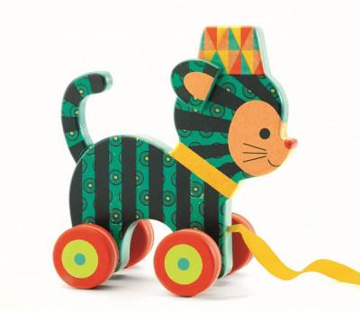 Tahací dřevěná kočička