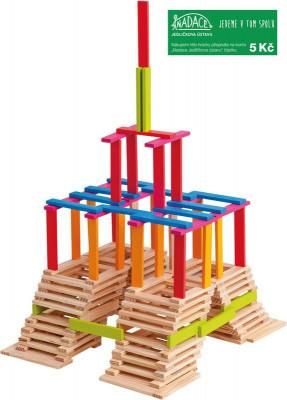 Emma – drevená stavebnica – 200 ks
