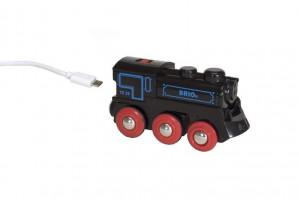 Brio - Elektrická lokomotiva nabíjecí přes mini USB kabel