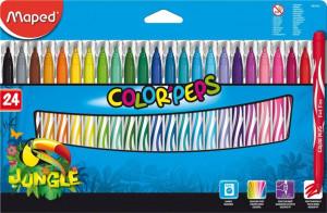 Detské fixky Maped Color´Peps Jungle - 24 farieb