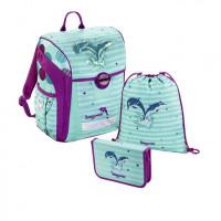 Školská aktovka - 3-dielny set, Baggymax Trikky Delfíny