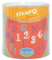 Stampo scrap - abeceda a číslice - 54 ks