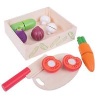 Bigjigs -  Krájanie zeleniny v krabičke