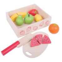 Bigjigs -  Krájanie ovocia v krabičce