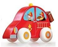 Dřevěné autíčko Scratch - požární auto