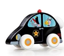 Dřevěné autíčko Scratch - policejní auto