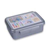 Svačinový box Zdravá sváča - šedý (nerez)