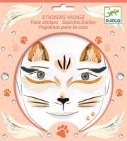 Samolepky na obličej - kočka