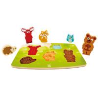 Hmatové vkládací puzzle - Lesní zvířátka