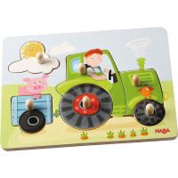 Drevené vkladacie skladačky (puzzle) - traktor – 6 dielov
