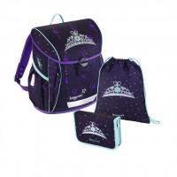 Školská aktovka - 3-dielny set - Fabby Kráľovská koruna