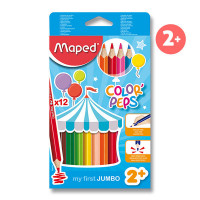Pastelky Maped Color´s Peps Jumbo- 12 farieb
