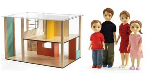 Domček pre bábiky - moderný domček - súprava s rodinou Toma a Marion
