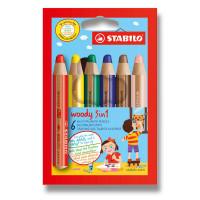Pastelky Stabilo Woody 3 in 1 - 6 barev