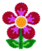 Hama Midi - podložka květina