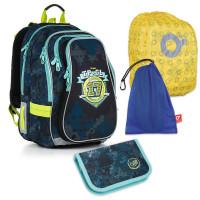 Set pre školáka Topgal - CHI 878 D + CHI 911 + vrecko na prezuvky, pláštenka na batoh