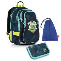 Školní set Topgal - CHI 878 D + CHI 911 + pytlík na přezůvky