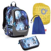 Set pre školáka Topgal - CODA17006 B + PENN17006 B + vrecko na prezuvky, pláštenka na batoh