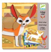 Výtvarná hra reliéfní koláž - Zvířata v divočině