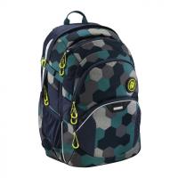 Školský batoh Coocazoo JobJobber2, Blue Geometric Melange