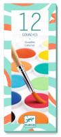 Vodové farby pre deti – 12 farieb