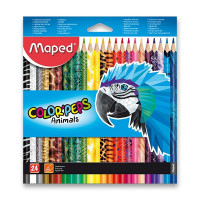 Pastelky Maped Color'Peps Animals - 24 farieb
