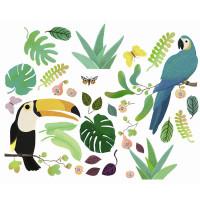Samolepící dekorace na sklo - Džungle