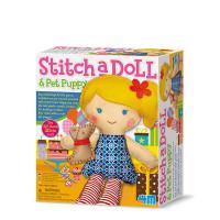 Kreativní sada šití - panenka s pejskem