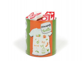 Stampo textil - sovy, vtáci, motýle - 12 ks