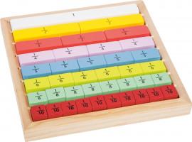 Edukatívna tabuľka farebná  - zlomky