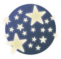 Fosforeskující samolepky - Hvězdy