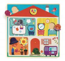 Drevené puzzle – domov pre zvieratká
