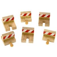 Bigjigs - Nárazníky drevenej vláčikodráhy 6 ks
