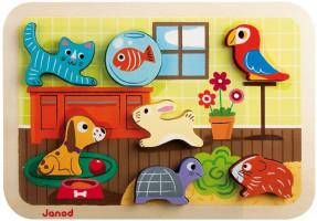 Vkládací puzzle 3D - Domácí mazlíčci