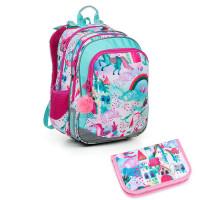 Školní batoh a penál Topgal ELLY 19004 G