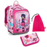 Set pre školáčku ENDY 19003 G SET MEDIUM - Školská taška, Vrecko na prezuvky, Školský peračník