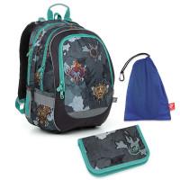 Školní set batoh + penál + pytlík na přezuvky Topgal CODA 19016 B
