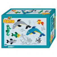 Hama Midi -  malý svět - delfíni - 2000 ks