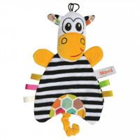 Mom's Care – textilní loutka zebra