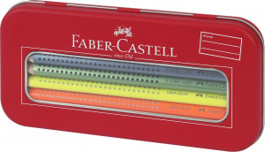 Pastelky Faber-Castell Jumbo Grip Neon v dárkové krabičce - 10 barev