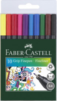Linery Faber-Castell GRIP, 0.4mm - 10 farieb
